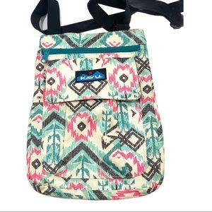 KAVU Aztec print crossbody bag